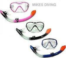 ADULT DRY TOP SNORKEL SET BY TBF - TWO BARE FEET - mask and snorkel snorkelling