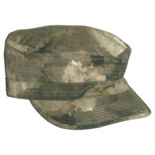 TACTICAL ARMY ACU STYLE PATROL HAT FIELD CAP HUNTING RIPSTOP A-TACS CAMO S-XXL