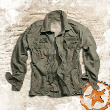 SURPLUS HERITAGE VINTAGE CLASSIC M65 FIELD JACKET OLIVE, RUGGED SUMMER JACKET