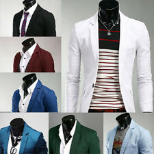 Mens Casual Stunning Slim fit Jacket Blazer Outerwear one Button Coat Suits