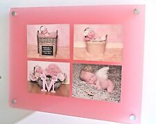 """14x16"""" 10mm acrylic multi picture photo frame for 4x6x4"""" photo all colours"""