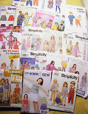 SEWING PATTERNS FOR TODDLERS,  CHILDREN & TEENS  NEW AND UNCUT WIDE ASSORTMENT