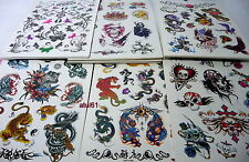 TEMPORARY BODY ART TRANSFER TATTOOS~CHINESE/PIRATE DRAGON TATTOO