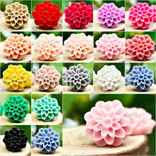13X13mm Resin FLOWER diy cameo flatback vintage style Cabochon for pendant ring