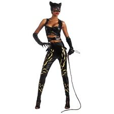 Deluxe Catwoman Costume Adult Womens Sexy Superhero Villain Cat Woman Halloween