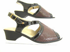 "Scholl Ladies Peep Toe Sling Back Sandals Dark Brown ""VIRNA"" UK 2.5 to 6.5"