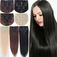 """REMY15""""20""""24""""26"""" 7P 8P 10P CLIP IN REAL HUMAN HAIR EXTENSIONS 70g,100g,120g,160g"""