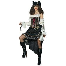 Sultry Swashbuckler Deluxe Womens Pirate Costume Fancy Dress Wench Halloween