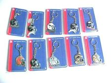 NFL PEWTER KEYCHAINS. NEW. ASSORTED TEAMS, CHOOSE YOURS, YOU ARE BUYING ONE