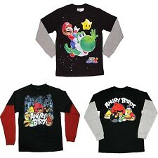 New Boy Pokemon Super Mario Galaxy 2 Mock Layer T Shirt Tee Size L14/16  XL18