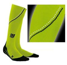 CEP Neon Night Running Compression Socks for Women, Reflective, Green