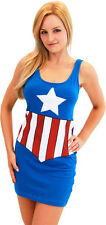 Juniors Marvel Comics Avengers Captain America Sexy Superhero Tank Dress Dresses