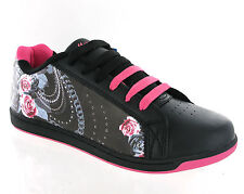 New Womens Black Pink Mercury Sports Skate Fashion Trainers Shoes Size 3-8 UK