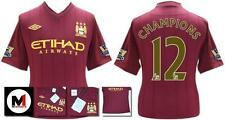 *12 / 13 - MAN CITY AWAY SS + CHAMP PATCHES / CHAMPIONS 12 = KIDS & JUNIOR SIZE*