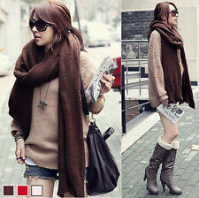 NWT Korea Womens 3 Solid Color Long Knitted Wool Scarf Warm Shawl Wrap 6474#