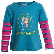 Girls In The Night Garden 'Upsy Daisy' Long Sleeved Layered T-shirt Teal Pink