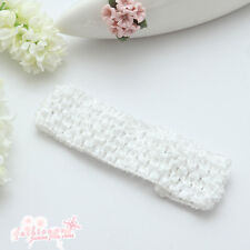 10 Pcs 1.5 Inch Crochet Stretch Baby Infant Girls Headbands 30 Colors Hot Sale