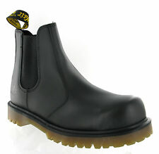 Mens Dr Martens 2228 Black Leather Steel Toe Cap Safety Dealer Boots Size 6-13