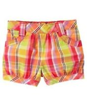 GYMBOREE PRETTY POSIES PLAID WOVEN SHORTS 18 24 2T 4T NWT