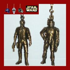 STAR WARS DIE CAST METAL FAN PULLS-HAN SOLO/BOBA FETT/GREEDO/LUKE SKYWALKER