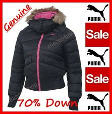※084※Authentic 'Puma' = Women/Teen 70% DOWN FUR Hooded Cropped Jacket UK 6-10