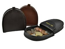 NEW Mens Small Handy Leather COIN TRAY/Purse Wallet in 3 Colours Change Holder