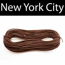 6mm Brown Bolo Braided Leather Cord Necklace 1 yard