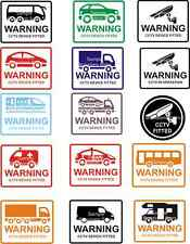 CCTV Security Device Fitted Warning Sticker X1 Coach 4x4 Car HGV