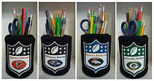#1 set NFL Football Pencil Holder Cup Pen Holder Work Desk Kitchen Office Gift