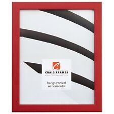 "Craig Frames Colori, 0.80"" Modern Red Picture Frame"