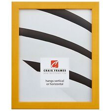"Craig Frames Colori, 0.80"" Modern Yellow Picture Frame"