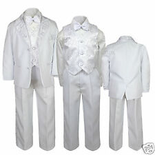 L17 New Boy Communion Baptism Formal Tuxedo Suit white S M L XL 2T 3T 4T 5 6 -20