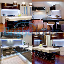 UNDER CABINET COUNTER KITCHEN TV PLASMA LED STRIP TAPE LIGHT KIT COOL WHITE UK