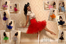 50's Stile sottoveste Swing Vintage Rock n Roll Fancy Dress Gon na Rockabilly Tutu