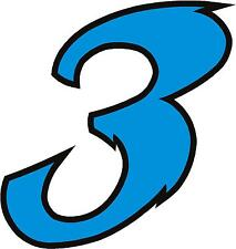 "x1 5"" Digit  (MORE in EBAY SHOP) Race Numbers vinyl stickers Style 2 Blue/Black"