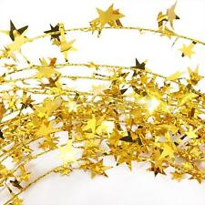 Classic Star Wire Foil Tinsel Garland Pretty Christmas Decoration 6 Color Choice