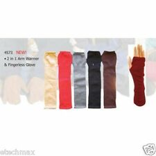 2 IN 1 ARM WARMER & FINGERLESS GLOVE  solid color