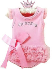 Girl's Baby Short Top Set Suit Bodysuit Costume Clothes Pricess Dress 12-24Month