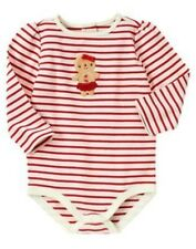GYMBOREE GINGERBREAD GIRL STRIPE COOKIE L/S BODYSUIT 0 3 6 12 18 24 NWT