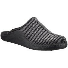 Romika Mokasso 220 Black Corduroy House Slippers Metric Sizes