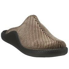 Romika Mokasso 220 Brown Corduroy Clog Slipper Metric Sizes