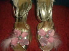PINK, TEAL, CHAMPAGNE or Ivory Flowers with Feathers Shoe Clips