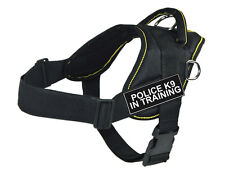 Working Dog Harness Yellow Trim - Police K9 In Training Velcro Patch Label Tag