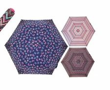 MINI UMBRELLA + COVER LIGHT ASSORTED FASHION PRINT LADIES WOMENS COMPACT