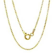 """925 Sterling Silver Ball Chain necklace for Pendant 16"""", 18"""", 20"""" Gold Plated"""