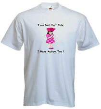 22a. Autism Kids T-shirts- I am not just cute, I have Autism too!