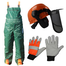 CHAINSAW SAFETY PROTECTION BIB TROUSERS GLOVES / HELMET CHAINSAW KIT