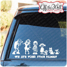 Zombie Family Stick Figure Vinyl Car, Truck Decal Stickers