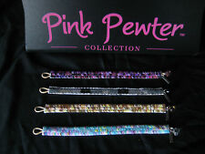 PINK PEWTER Bracelets Sequins Beaded Teen Tween Funky Boutique Unique