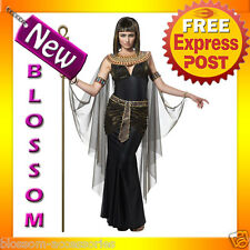 C649 Cleopatra Black Egyptian Goddess Fancy Dress Party Halloween Costume Outfit